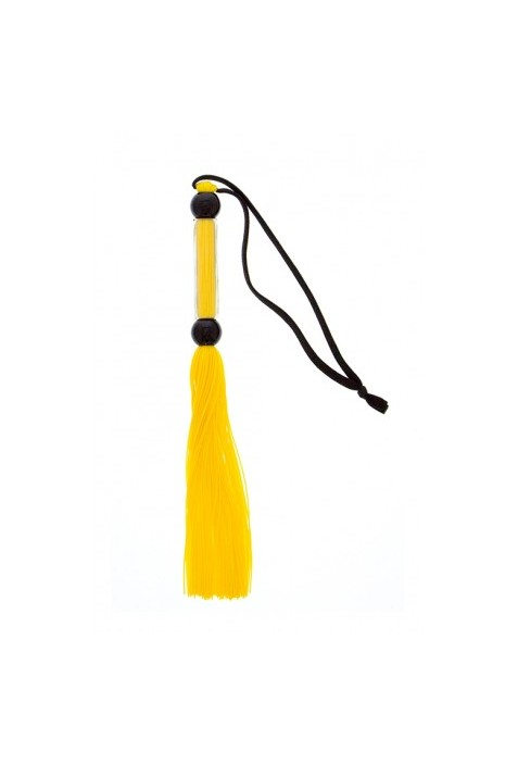 GP SILICONE FLOGGER WHIP YELLOW